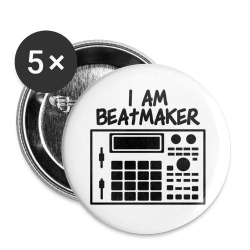 i am beatmaker - Lot de 5 grands badges (56 mm)