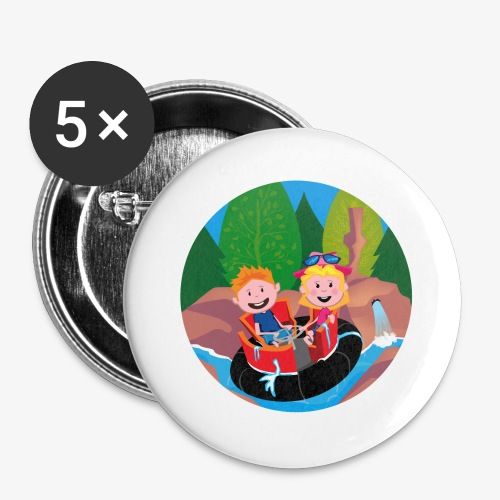 Themepark: Rapids - Buttons groot 56 mm (5-pack)
