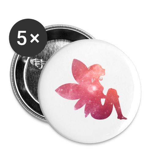 Pink fairy - Stor pin 56 mm (5-er pakke)