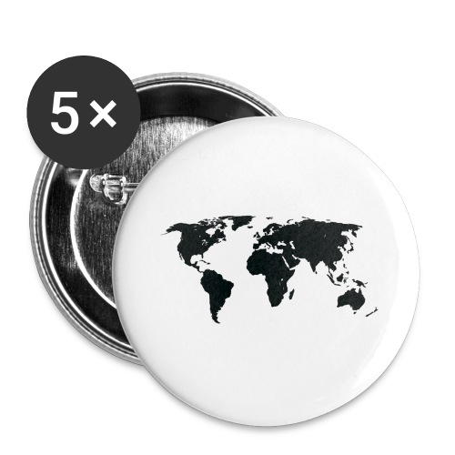 World - Buttons/Badges stor, 56 mm (5-pack)