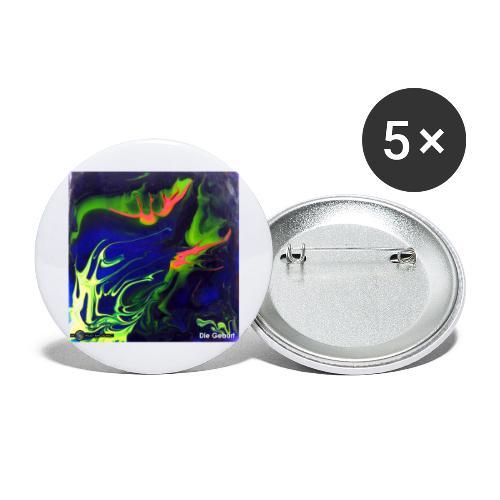 TIAN GREEN Mosaik AT006 - Die Geburt - Buttons groß 56 mm (5er Pack)