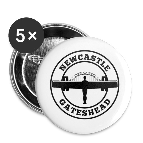 NEW BIGGER LOGO - Buttons large 2.2''/56 mm(5-pack)