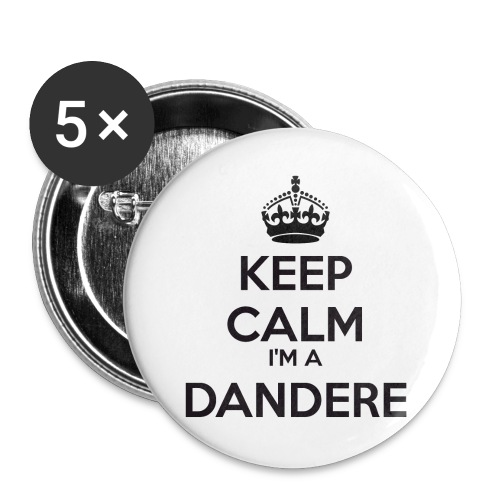 Dandere keep calm - Buttons large 2.2''/56 mm(5-pack)