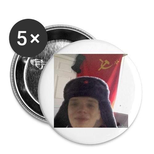 Kommunisti Saska - Rintamerkit isot 56 mm (5kpl pakkauksessa)