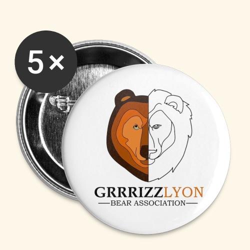 Grrrizzlyon - Lot de 5 grands badges (56 mm)
