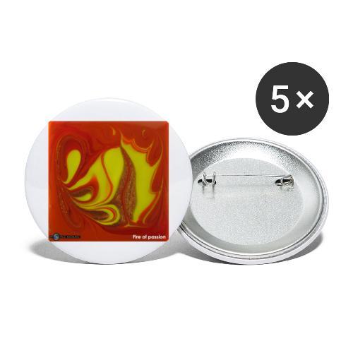 TIAN GREEN Mosaik DK011 - Fire of passion - Buttons groß 56 mm (5er Pack)
