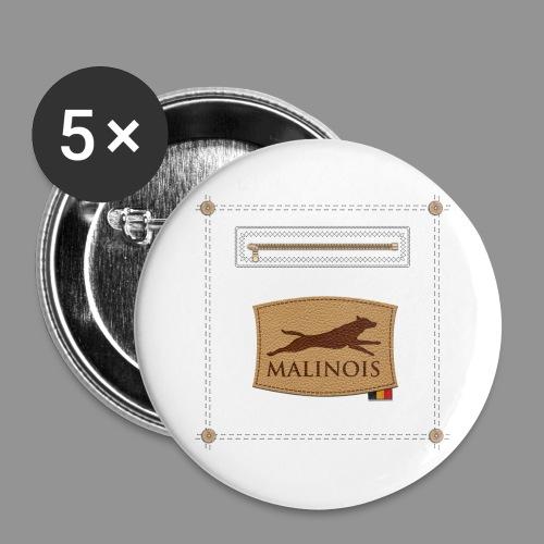 Belgian shepherd Malinois - Buttons large 2.2''/56 mm(5-pack)