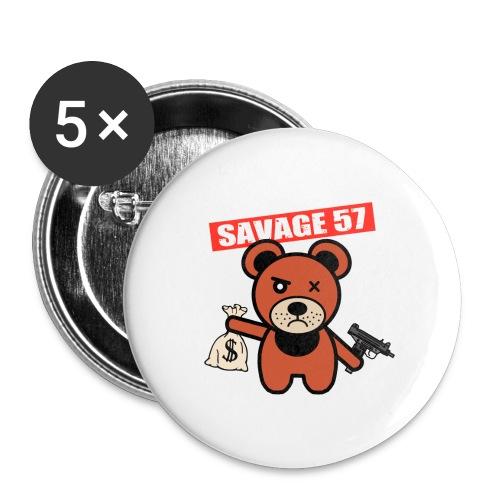 Savage 57 - Lot de 5 grands badges (56 mm)