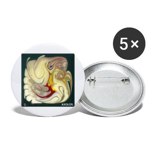 TIAN GREEN Mosaik DE114 - Axolotl - Buttons groß 56 mm (5er Pack)