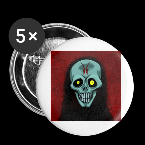 Ghost skull - Buttons large 2.2''/56 mm(5-pack)