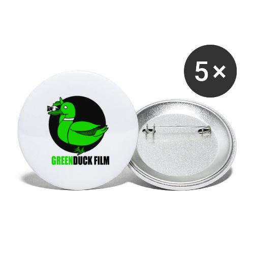 Greenduck Film Logo w. black letters - Buttons/Badges stor, 56 mm (5-pack)