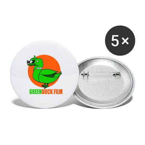 Greenduck Film Orange Sun Logo - Buttons/Badges stor, 56 mm (5-pack)