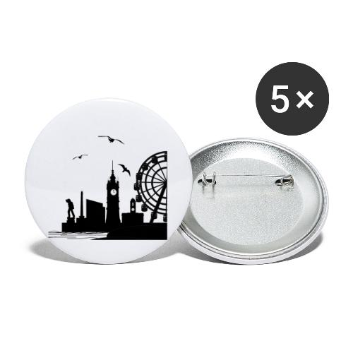 Silhouette of Margate - Buttons large 2.2''/56 mm (5-pack)