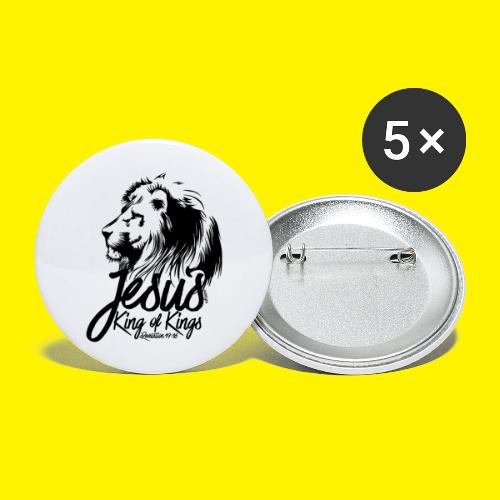 JESUS - KING OF KINGS - Revelations 19:16 - LION - Buttons large 2.2''/56 mm(5-pack)