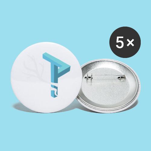 Winter Season - Buttons groß 56 mm (5er Pack)