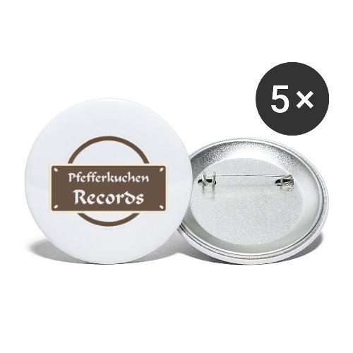 Pfefferkuchen Records Label - Buttons groß 56 mm (5er Pack)
