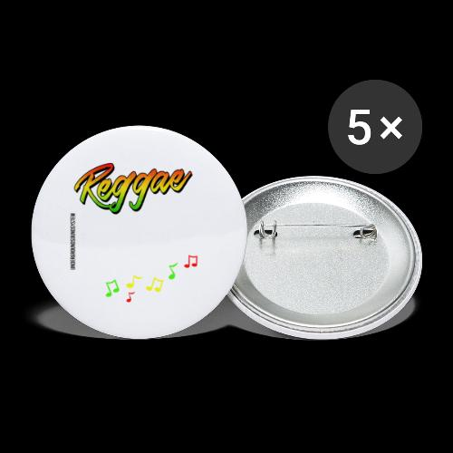 Reggae - Catch the Wave - Buttons groß 56 mm (5er Pack)