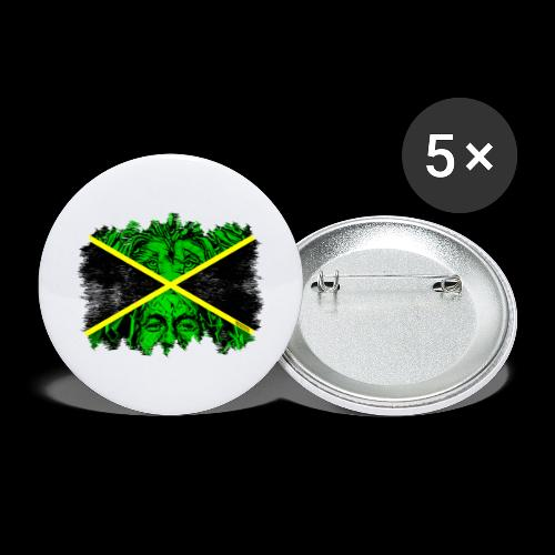 LION BOB JAMAICA - Buttons groß 56 mm (5er Pack)