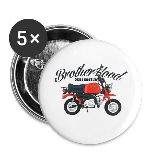 gorilla - Lot de 5 grands badges (56 mm)