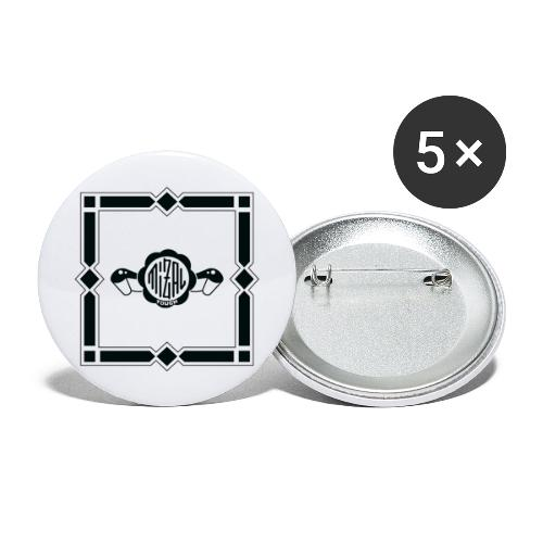 Quality Control by MizAl - Lot de 5 grands badges (56 mm)