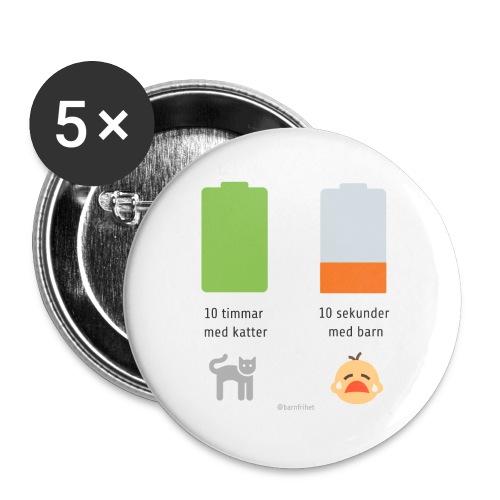 Livsbatteriet KATT - Stora knappar 56 mm (5-pack)