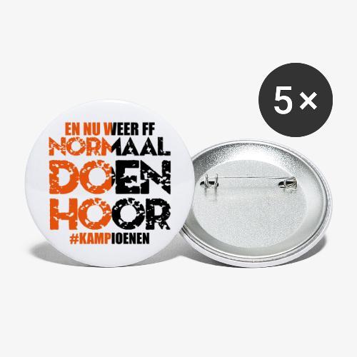 Normaal doen hoor - Buttons groot 56 mm (5-pack)