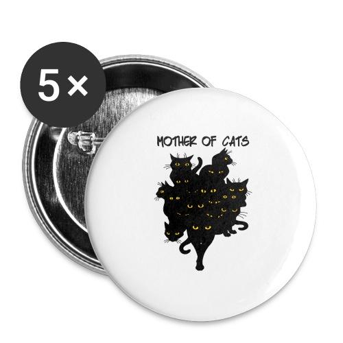 the mother cats - Confezione da 5 spille grandi (56 mm)