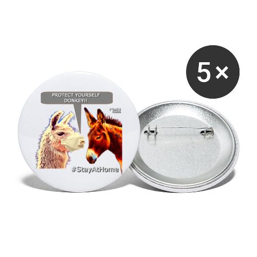 Protect Yourself Donkey - Coronavirus - Buttons large 2.2''/56 mm (5-pack)