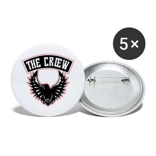 THE CRŒW SYL TEAM CROW - Lot de 5 grands badges (56 mm)