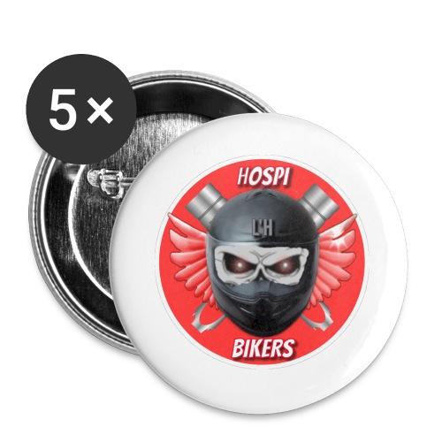 logo hospibikers - Paquete de 5 chapas grandes (56 mm)