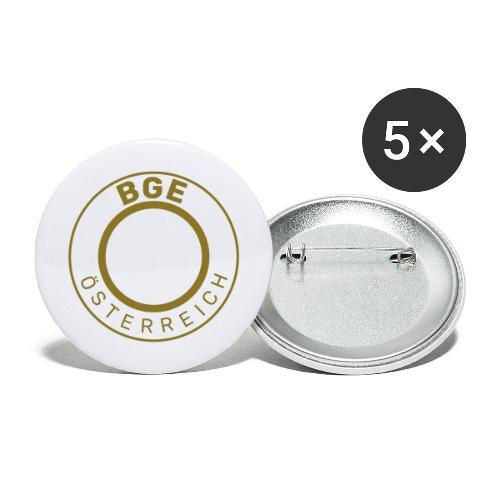 BGE-Österreich - Buttons groß 56 mm (5er Pack)
