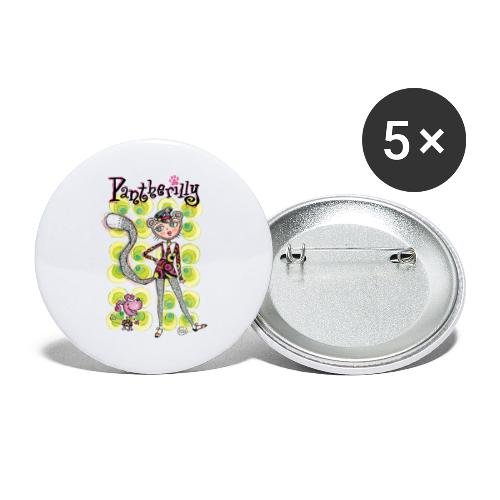 Pantherilly - Beat - Confezione da 5 spille grandi (56 mm)