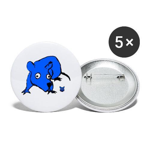 blue mouse - Confezione da 5 spille grandi (56 mm)