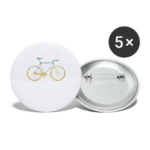 Ik hou van fietsen - Buttons groot 56 mm (5-pack)