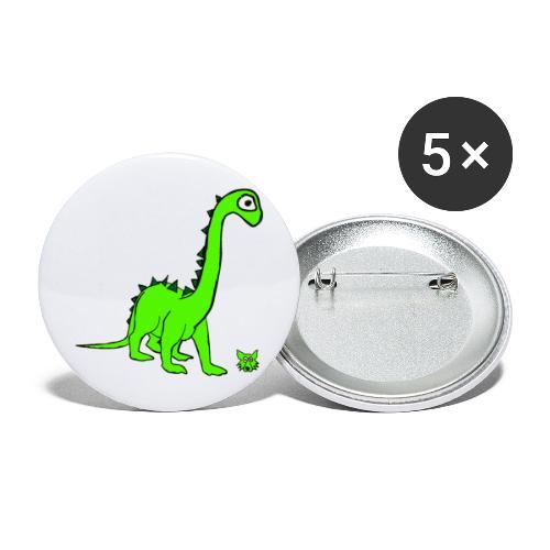 dinosauro - Confezione da 5 spille grandi (56 mm)