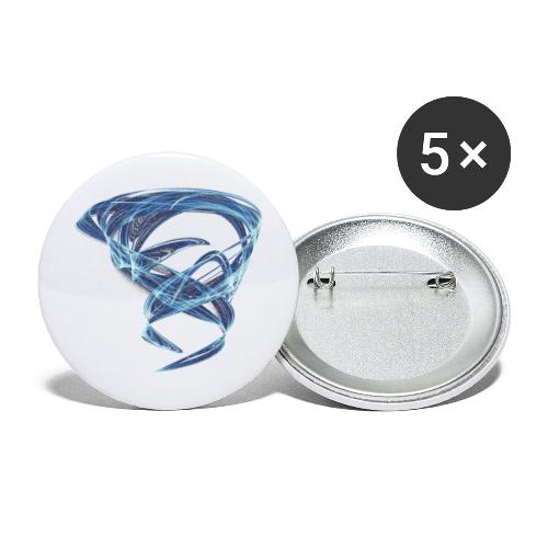 Chaotic Ice Water Whirlwind 11387ice - Buttons large 2.2''/56 mm(5-pack)