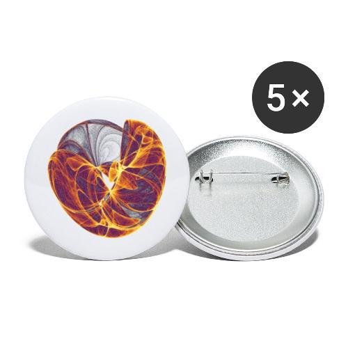Ströme des Herzens 8124 Inferno - Buttons groß 56 mm (5er Pack)