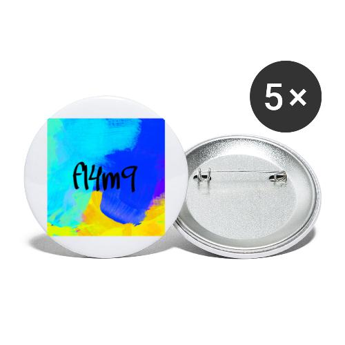 fl4m9 collection - Buttons/Badges stor, 56 mm (5-pack)