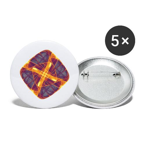 Chakra Mandala Mantra OM Chaos Star Circle 12255i - Buttons large 2.2''/56 mm(5-pack)