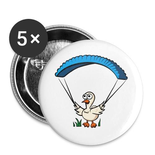 Groundhendl Groundhandling Hendl Paragliding Huhn - Buttons groß 56 mm (5er Pack)