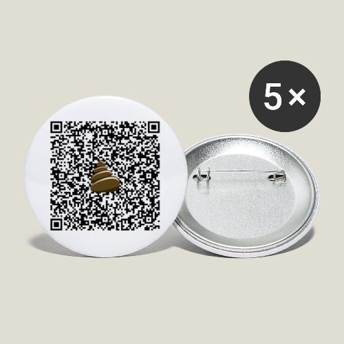 QR-kod bajshoroskop - Stora knappar 56 mm (5-pack)