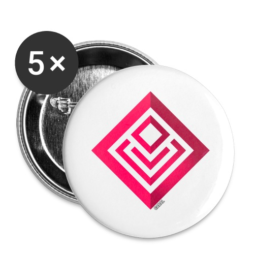 Cabal (with label) - Buttons large 2.2''/56 mm(5-pack)