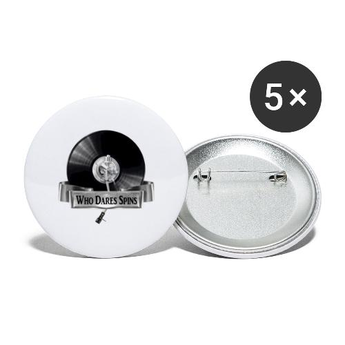 WHO DARES SPINS - Buttons large 2.2''/56 mm(5-pack)