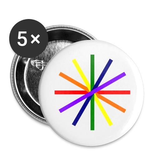 Glücksrad 21.1 - Buttons groß 56 mm (5er Pack)