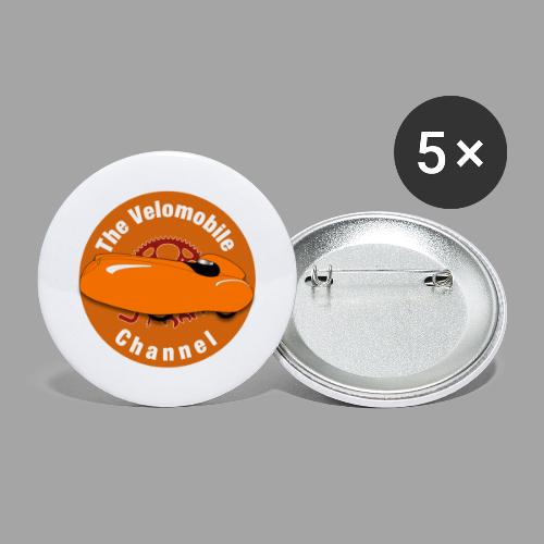 The Velomobile Channel logo - Rintamerkit isot 56 mm (5kpl pakkauksessa)