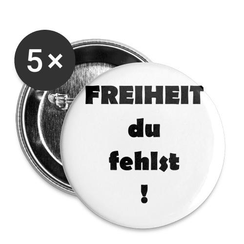 FREIHEIT du fehlst! - Buttons groß 56 mm (5er Pack)