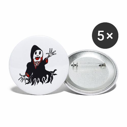 grim reaper funny style - Lot de 5 grands badges (56 mm)