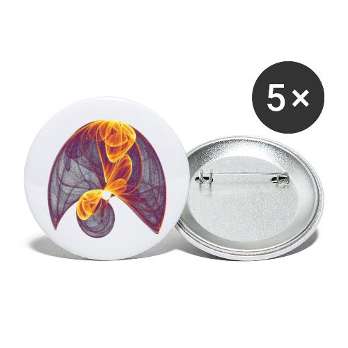 Parachute in the Inferno - Buttons large 2.2''/56 mm(5-pack)