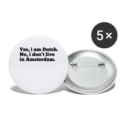 Dutch - Buttons groot 56 mm (5-pack)