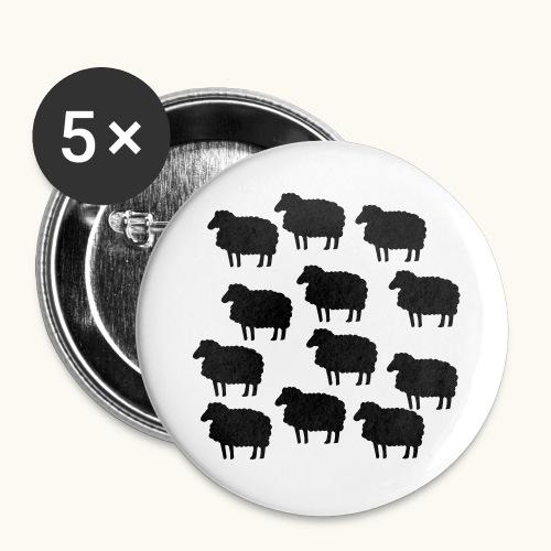 Farbe anpassbar lustige Schafherde Geschenkidee - Lot de 5 grands badges (56 mm)